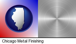Chicago, Illinois - a smoothly-finished metal surface