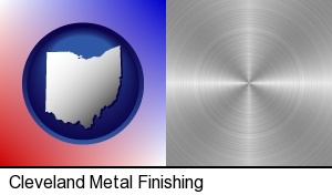 Cleveland, Ohio - a smoothly-finished metal surface