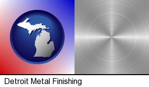 Detroit, Michigan - a smoothly-finished metal surface