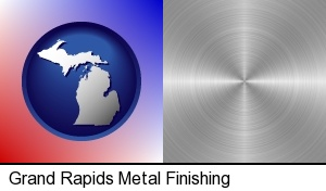 Grand Rapids, Michigan - a smoothly-finished metal surface