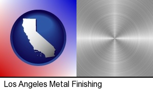 Los Angeles, California - a smoothly-finished metal surface