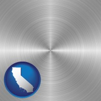 california a smoothly-finished metal surface