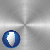 illinois a smoothly-finished metal surface