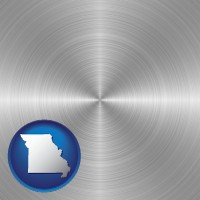 missouri a smoothly-finished metal surface