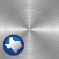 texas a smoothly-finished metal surface